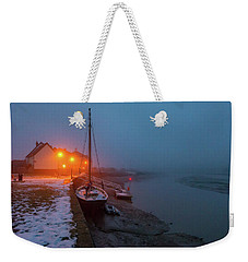 Weekender Tote Bag featuring the photograph Misty Rowhedge Winter Dusk by Gary Eason