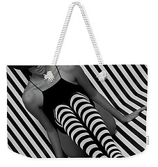 Weekender Tote Bag featuring the photograph Model 1 by Francisco Gomez