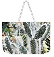 Weekender Tote Bag featuring the photograph Mojave Prickly Pear by James Fannin