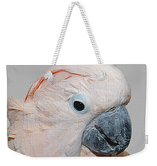 Weekender Tote Bag featuring the photograph Moluccan Cockatoo by Debbie Stahre