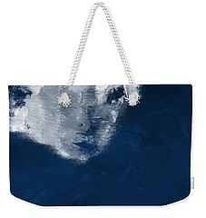 Weekender Tote Bag featuring the painting Moment In Blue- Art By Linda Woods by Linda Woods