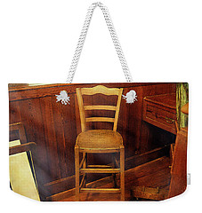 Weekender Tote Bag featuring the photograph Monet's Art Studio Chair by Craig J Satterlee