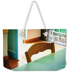 Weekender Tote Bag featuring the photograph Monet's Kitchen Chair by Craig J Satterlee