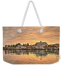 Monhegan Sunrise - Harbor View Weekender Tote Bag