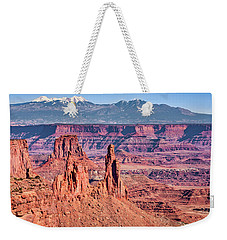 Weekender Tote Bag featuring the photograph Monster Tower by Andy Crawford