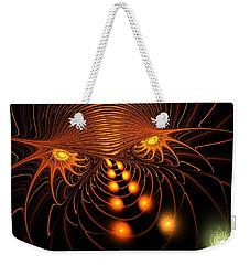 Weekender Tote Bag featuring the digital art Monster's Eyes by Anastasiya Malakhova