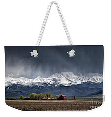 Weekender Tote Bag featuring the photograph Montana Homestead by Brad Allen Fine Art