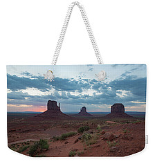 Monument Valley Before Sunrise Weekender Tote Bag