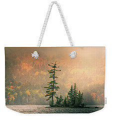 Weekender Tote Bag featuring the photograph Moody Autumn Morning On Moosehead Lake by Dan Sproul