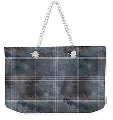 Moody Blue Plaid Weekender Tote Bag