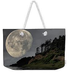 Moon And Beach Weekender Tote Bag