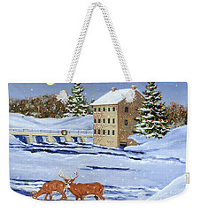 Moonlight Millpond Whitetails Weekender Tote Bag