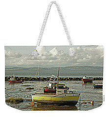 Morecambe. Boats On The Shore. Weekender Tote Bag