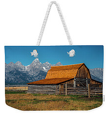 Weekender Tote Bag featuring the photograph Mormons Barn 3779 by Donald Brown