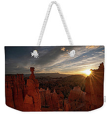 Weekender Tote Bag featuring the photograph Morning Kiss by Edgars Erglis
