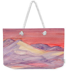 Weekender Tote Bag featuring the painting Morning Light In The Mountains by Dobrotsvet Art
