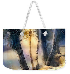 Morning On The Murray Weekender Tote Bag