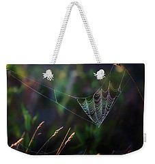 Weekender Tote Bag featuring the photograph Morning Spider by Bill Wakeley