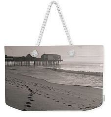 Weekender Tote Bag featuring the photograph Morning Walk On Old Orchard Beach by Dan Sproul