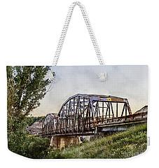 Weekender Tote Bag featuring the photograph Morrin Bridge by Brad Allen Fine Art