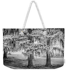 Weekender Tote Bag featuring the photograph Moss Laden Trees 4132 by Donald Brown
