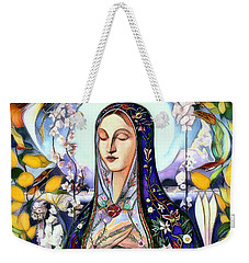 Weekender Tote Bag featuring the digital art Mother Mary by Pennie McCracken