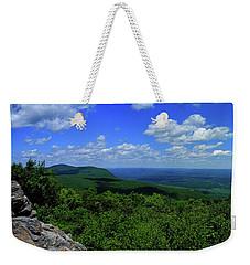 Weekender Tote Bag featuring the photograph Mount Everett And Mount Race From The Summit Of Bear Mountain In Connecticut by Raymond Salani III