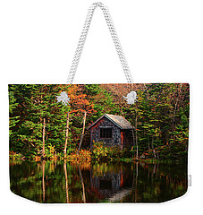 Weekender Tote Bag featuring the photograph Mount Greylock Cabin by Raymond Salani III