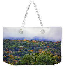 Weekender Tote Bag featuring the photograph Mount Greylock In The Clouds by Raymond Salani III