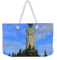 Weekender Tote Bag featuring the photograph Mount Greylock Tower From Bascom Lodge by Raymond Salani III