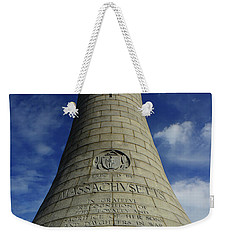 Weekender Tote Bag featuring the photograph Mount Greylock Tower Up And Close 2 by Raymond Salani III