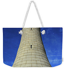 Weekender Tote Bag featuring the photograph Mount Greylock Tower Up And Close by Raymond Salani III