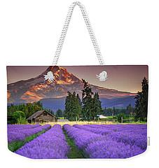 Mount Hood Lavender Field  Weekender Tote Bag