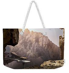 Mountain Door Weekender Tote Bag