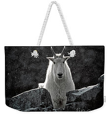 Weekender Tote Bag featuring the photograph Mountain Goat by Brad Allen Fine Art