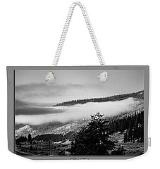 Weekender Tote Bag featuring the photograph Mountain Mist by Pete Federico