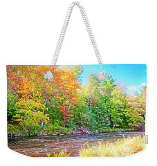 Mountain Stream In Early Autumn Weekender Tote Bag
