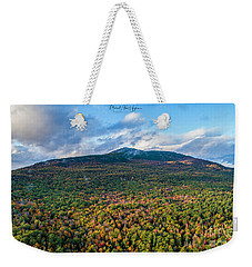 Weekender Tote Bag featuring the photograph Mountain That Stands Alone by Michael Hughes