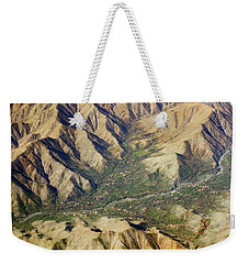 Weekender Tote Bag featuring the photograph Mountain Valley Village by SR Green