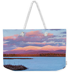 Mountain Views Over Cherry Pond Weekender Tote Bag