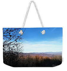 Weekender Tote Bag featuring the photograph Mountains For Miles by Rachel Hannah