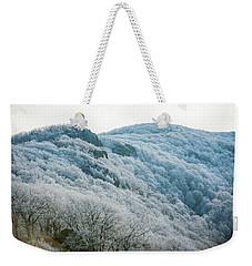 Mountainside Hoarfrost Weekender Tote Bag