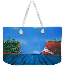 Mouth Of The Hay River Weekender Tote Bag