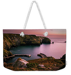 Mullion Cove Sunset - Cornwall General View Weekender Tote Bag