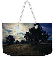Weekender Tote Bag featuring the photograph Murky Atmosphere Elk Meadow by Dan Miller