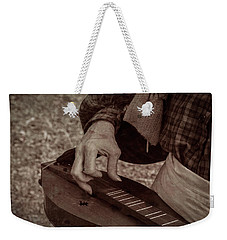 Weekender Tote Bag featuring the photograph Musician 1349 by Guy Whiteley