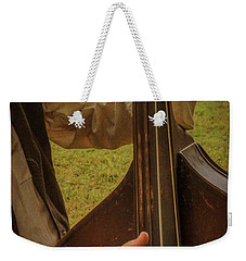 Weekender Tote Bag featuring the photograph Musician 1370 by Guy Whiteley