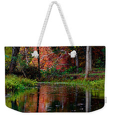 Weekender Tote Bag featuring the photograph My Secret Place by Kristi Swift