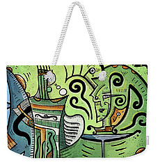 Weekender Tote Bag featuring the painting Mystical Powers by Sotuland Art