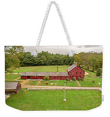 Weekender Tote Bag featuring the photograph Nathan Hale Homesead by Michael Hughes